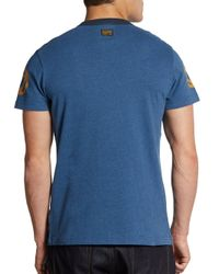 G-Star RAW | Blue Printed Shortsleeve Cotton Tee for Men | Lyst