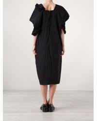 Comme des Garçons Black Ruffle Trimmed Dress