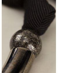 Lanvin Metallic Ball Ribbon Necklace