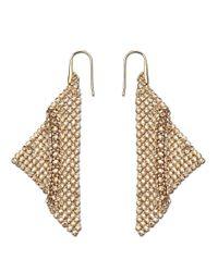 Swarovski - Metallic Fit Gold Tone And Crystal Drop Earrings - Lyst