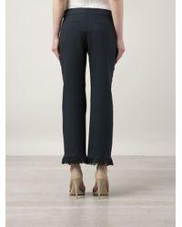 Chloé Blue Fringe Trousers