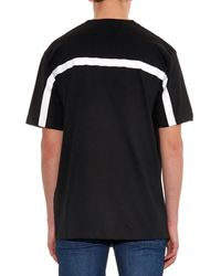 Hood By Air Black Block-Print Cotton-Jersey T-Shirt for men