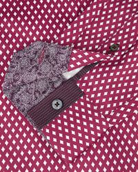 Ted Baker | Red Diamond Print Shirt for Men | Lyst
