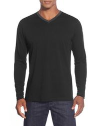 Robert Barakett | Black 'smith' V-neck Long Sleeve T-shirt for Men | Lyst