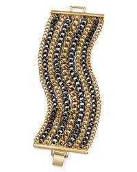 Pink Pony - Metallic Lauren Curb Chain Bracelet - Lyst