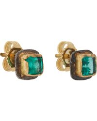 Judy Geib - Green Women's Colombian Emerald Stud Earrings - Lyst