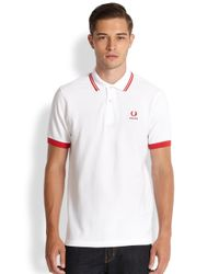 Fred Perry - White England World Cup Polo for Men - Lyst