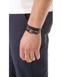 Miansai Black Brummel Hook Noir Bracelet for men