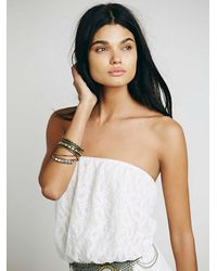 Free People - White Tahlia Romper - Lyst