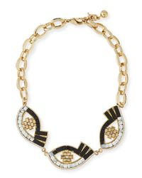 Lulu Frost   Metallic Lumen Mosaic Eye Necklace for Men   Lyst
