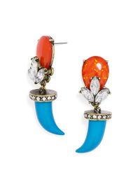 BaubleBar Blue Amalfi Horn Drops