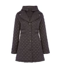 Dawn Levy   Gray Hooded Jacket With Zip Buttons   Lyst