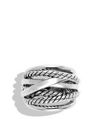 David Yurman - Metallic Crossover Wide Ring - Lyst