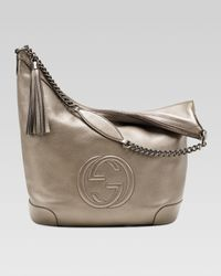 Gucci - Brown Soho Metallic Leather Chain Shoulder Bag - Lyst