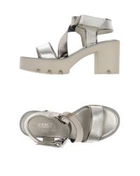 Jeannot | Metallic Sandals | Lyst
