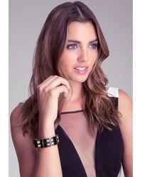 Bebe - Metallic Art Deco Stretch Bracelet - Lyst