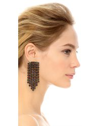 Erickson Beamon - Black Hyperdrive Waterfall Earrings - Lyst