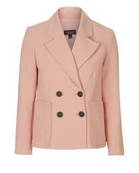TOPSHOP Pink Double Breasted Jacket