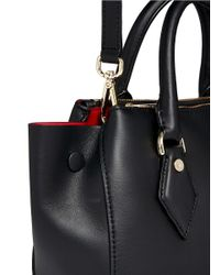 Diane von Furstenberg - Black Voyage Leather Satchel - Lyst