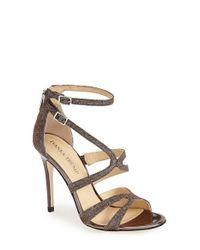 Ivanka Trump Metallic 'hotis' Strappy Sandal