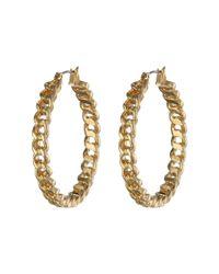 Lauren by Ralph Lauren - Metallic Bar Harbor Large Frozen Chain Clickit Hoop Earrings - Lyst