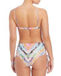 Mara Hoffman - Multicolor Rainbow Roll Triangle Bikini Top - Lyst