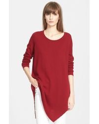 Joie Red 'tambrel' Asymmetrical Sweater Tunic