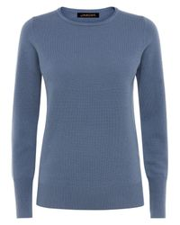Jaeger - Blue Cashmere Crew Neck Sweater - Lyst