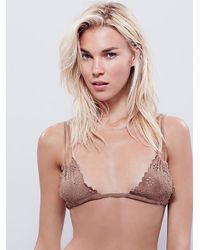 Free People | Natural Bali Suede Bra | Lyst