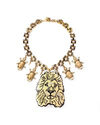 Lulu Frost | Metallic Leo Collage Necklace | Lyst