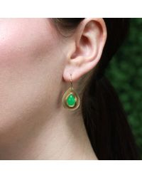 Irene Neuwirth - Green Tear Drop Chrysoprase Earrings - Lyst
