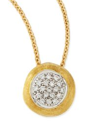Marco Bicego   Metallic Delicati Jaipur 18k Diamond Pendant Necklace   Lyst
