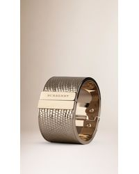 Burberry | Metallic Lizard Cuff | Lyst