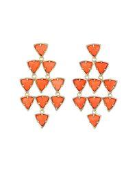 Kendra Scott | Metallic Vale Earrings | Lyst