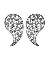 Sonal Bhaskaran | Metallic Jaali Ruthenium Earrings Spinel | Lyst