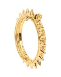 Alexander McQueen Metallic Skull Spike Bangle