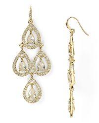 Carolee - Metallic Pave Pear Chandelier Earrings - Lyst