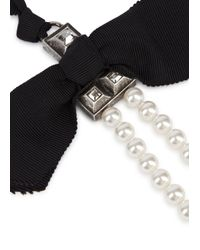 Lanvin White Perles Royales Long Faux Pearl Necklace