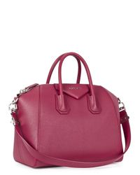 Givenchy Purple Antigona Medium Berry Leather Tote