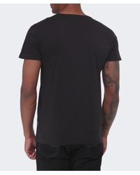 Replay - Black Chest Pocket T-shirt for Men - Lyst