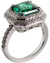 Carat* | Princess 3ct Green Borderset Ring | Lyst