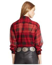 Polo Ralph Lauren - Black Silk Plaid Shirt - Lyst
