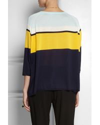 Vionnet - Yellow Color-Block Silk Sweater - Lyst