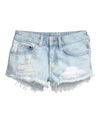 H&M Blue Denim Shorts