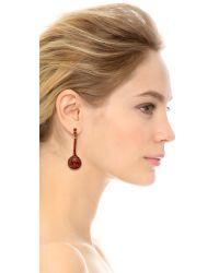 Oscar de la Renta | Red Jeweled Drop Earrings Cardinal | Lyst