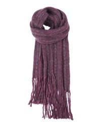 Toast | Purple Mohair Cable Scarf | Lyst