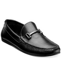 Florsheim - Black Jasper Moc Toe Bit Loafers for Men - Lyst