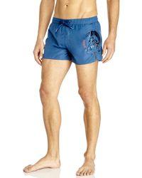 DIESEL   Blue Coralrif Swim Trunks for Men   Lyst
