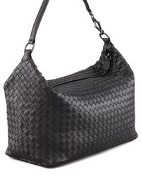 Bottega Veneta Black Woven Leather Shoulder Bag