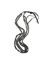 Royal Nomad Jewelry - Three Strand Lavender And Black Spinel Necklace for Men - Lyst